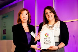 jenny-marchmont-accepting-the-best-conference-by-an-agency-conference-orgainser-award-at-the-abpco-excellence-awards